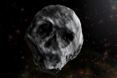"A ""skull-shaped"" asteroid will pass Earth around Halloween"