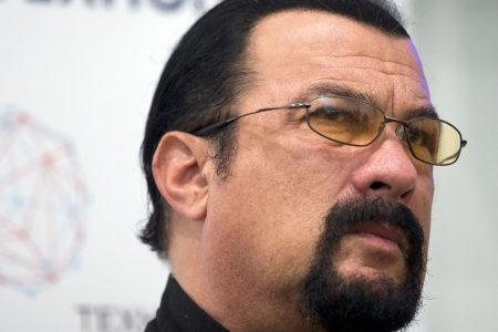 Steven Seagal storms out of live interview after sexual assault questions