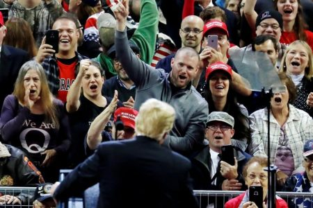 Why is the mob angry? Because Trump is ripping us apart with bigotry and hatred.