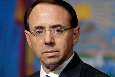 Rosenstein to fly with Trump to Florida on Monday, official says