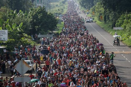 Migrant caravan swells to more than 5000 as group marches toward US