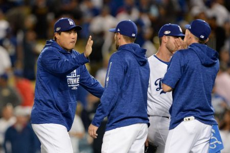 Dodgers roll past Braves, and have Clayton Kershaw rested and ready for Game 2