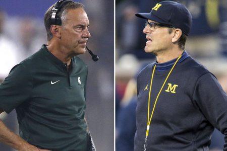 Michigan's Jim Harbaugh rips Michigan State, Dantonio again, doubles down on 'bush league'