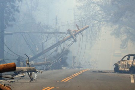 Burned-Out Cars, Smoke in the Air, Aerial Assaults, All in California