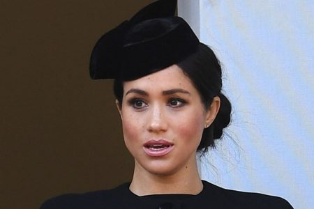 Duchess Kate and Duchess Meghan match in black for Remembrance Sunday