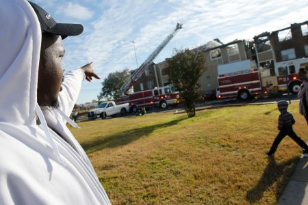 'I just told the mom I wouldn't drop the baby': Bystander catches infant in fire rescue