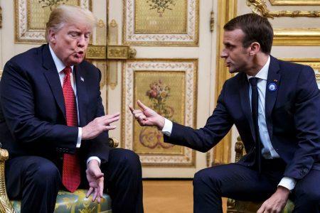 Amid criticism, President Donald Trump meets French counterpart Emanuel Macron