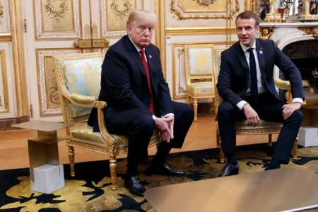 Trump Assails Macron and Defends Decision to Skip Cemetery Visit