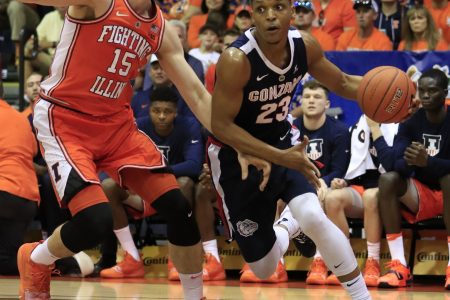 The Latest: No. 3 Gonzaga holds off Illinois 84-78 in Maui