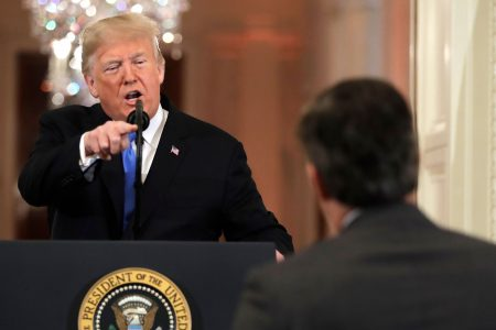 Twelve fiery moments from Trump's White House press conference