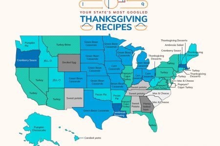 The most-Googled Thanksgiving recipes by state