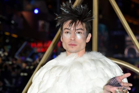 Ezra Miller's Fantastic Beasts red carpet look comes with Avada Kedavra on his hands