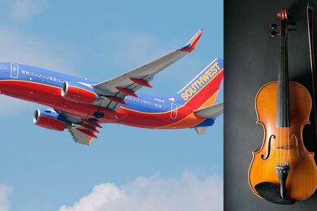 Violinist claims Southwest Airlines forced him to leave flight after he refused to check $80000 instrument