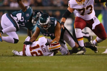 Redskins Fall to Eagles and Lose Colt McCoy to Broken Leg – The New York Times