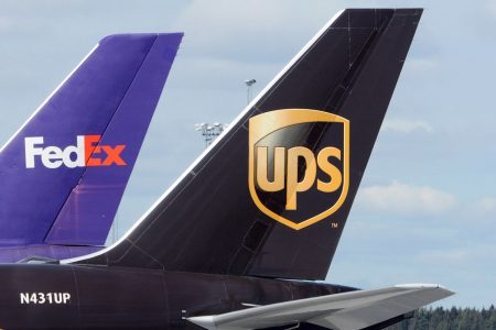 UPS, FedEx shares near bear market as Morgan Stanley sees rising competition from 'Amazon Air' – CNBC