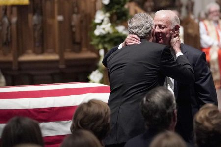 George H.W. Bush's friends and family have intimate memorial in Houston – POLITICO