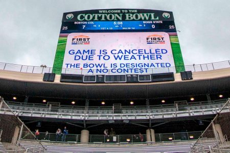 Severe weather forces cancellation of First Responder Bowl game – CNN