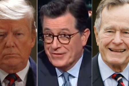 Colbert Taunts Trump With An Absolutely Savage Comparison To George H.W. Bush – HuffPost