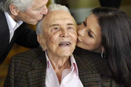 Catherine Zeta-Jones, family pay tribute to Kirk Douglas on birthday No. 102! – USA TODAY