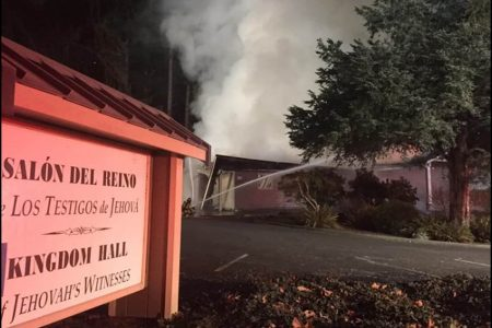 Another Jehovah's Witness center has been destroyed in 9-month rash of arson attacks – The Washington Post