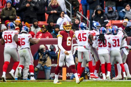 Redskins routed by Giants, 40-16, as most fans leave at halftime of embarrassing home loss – The Washington Post