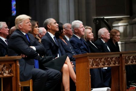 Bush funeral: Trump sits with fellow presidents but still stands alone – The Washington Post