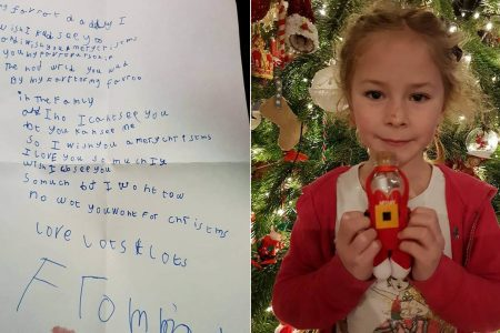 Girl's Christmas letter to dad in heaven gets heartwarming response – Fox News