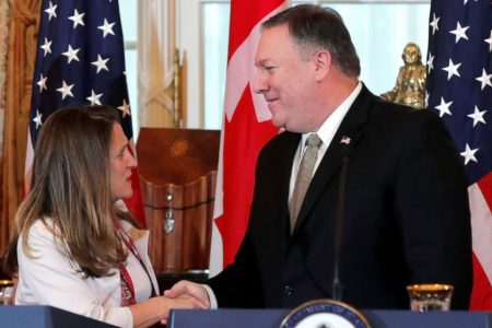Pompeo calls Canadians' detention in China 'unlawful' amid trade tensions – ABC News