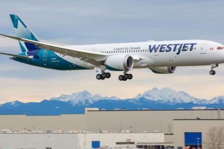 WestJet's first Boeing 787 Dreamliner takes flight from Everett, Washington – USA TODAY