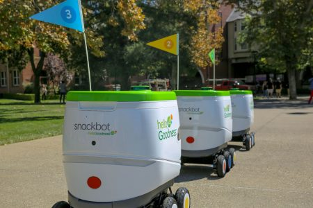 Snacks, drinks delivered by robot? It's a dream come true at this college campus – USA TODAY
