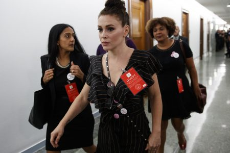 Alyssa Milano: 'Red MAGA hat is the new white hood' – Washington Times