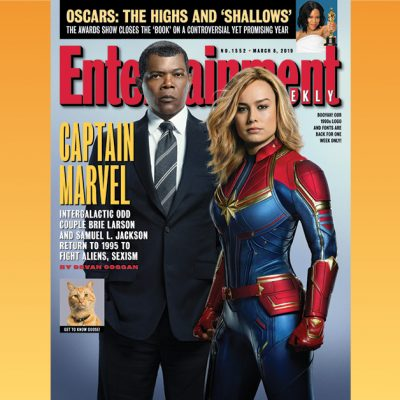 Brie Larson, Samuel L. Jackson blast to the past with EW's Captain Marvel issue – Entertainment Weekly News