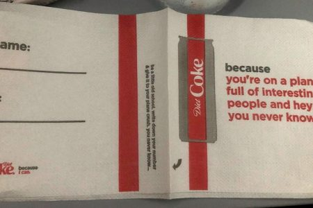 Delta and Coke thought these flirtatious napkins were clever. But that idea fizzled – CNN