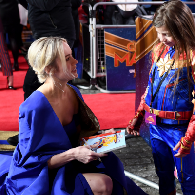 Brie Larson interviewed by tiny Carol Danvers at 'Captain Marvel' gala – Mashable