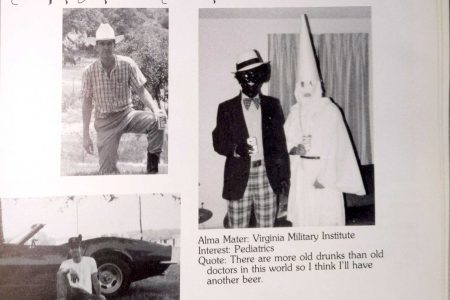 Va. Gov. Northam's medical school yearbook page shows men in blackface, KKK robe – The Washington Post