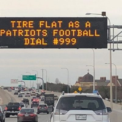 New England Patriots targeted by Texas digital billboards: 'Tire flat as a Patriots football' – Fox News
