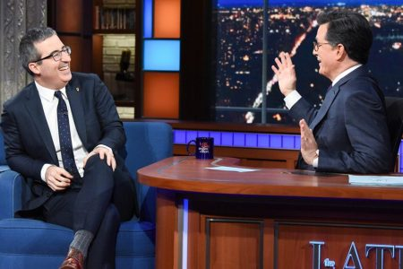 John Oliver loudly booed during Stephen Colbert interview for suggesting Trump could be re-elected – Fox News