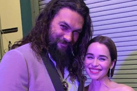 Emilia Clarke and Jason Momoa had a Game of Thrones reunion at the Oscars – Entertainment Weekly News