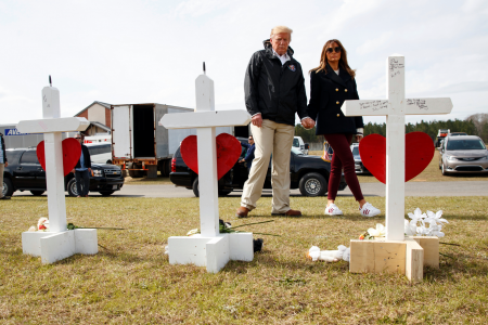 Trump pays his respects to 23 killed by Alabama tornado – Fox News